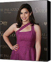James Atoa Canvas Prints - America Ferrera Wearing A Nanette Canvas Print by Everett