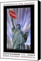 Stop Canvas Prints - America On Alert II Canvas Print by Mike McGlothlen
