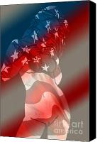 Independance Canvas Prints - America Canvas Print by Tbone Oliver