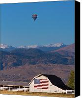 Hot Air Balloon Canvas Prints - America The Beautiful The Banner Of The Free  Canvas Print by James Bo Insogna