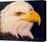 Birds Ceramics Canvas Prints - American Bald Eagle Canvas Print by Dy Witt