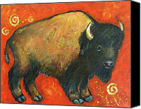 Santa Fe Canvas Prints - American Bison Canvas Print by Carol Suzanne Niebuhr