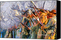 Gunfire Canvas Prints - American Civil War - Abstract Expressionism Canvas Print by Zeana Romanovna