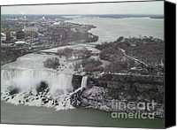 Providence Canvas Prints - American Falls And Bridal Veil Falls Niagra Canvas Print by Melissa