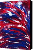 American Flag Canvas Prints - American Flag Canvas Print by Michael Vigliotti