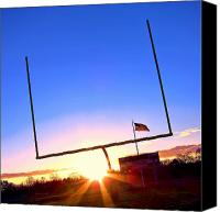  Goal Canvas Prints - American Football Goal Posts Canvas Print by Olivier Le Queinec