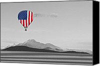 Selective Color Canvas Prints - American High Canvas Print by James Bo Insogna