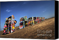 Display Cars Canvas Prints - American Icon Canvas Print by Fred Lassmann
