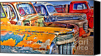Bumpers Canvas Prints - American Metal Canvas Print by Robert Crespin