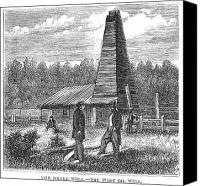 Edwin Canvas Prints - American Oil Well, 1859 Canvas Print by Granger