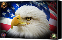 July Canvas Prints - American Pride Canvas Print by Shane Bechler