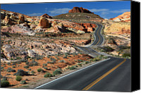 Valley Of Fire Canvas Prints - American Roadtrip Canvas Print by Achim Thomae