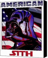 Red White Blue Canvas Prints - American Sith Canvas Print by Dale Loos Jr