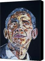 Portrait Barack Obama Canvas Prints - AmeriCAN Canvas Print by Valerie Ornstein