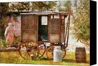 Carriage Canvas Prints - Americana - The Milk and Egg wagon  Canvas Print by Mike Savad