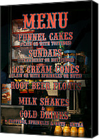 Vendor Canvas Prints - Americana - Food - Menu  Canvas Print by Mike Savad