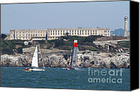 Yachts Canvas Prints - Americas Cup in San Francisco - China Firefall - 7D18334 Canvas Print by Wingsdomain Art and Photography