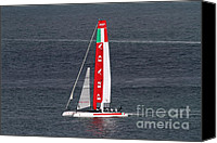 Luna Canvas Prints - Americas Cup in San Francisco - Italy Luna Rossa Paranha Sailboat - 7D19041 Canvas Print by Wingsdomain Art and Photography