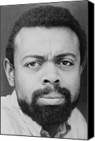Van Dyke Canvas Prints - Amiri Baraka Everett Leroi Jones B Canvas Print by Everett