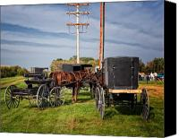 Auction Canvas Prints - Amish at the auction Canvas Print by Al  Mueller