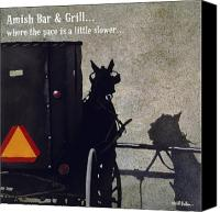 Lounge Canvas Prints - Amish Bar and Grill... Canvas Print by Will Bullas