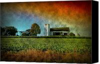Storm Prints Canvas Prints - Amish Country Farm Canvas Print by Bill Cannon