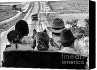 Julie Dant Photographs Canvas Prints - Amish Family Outing II Canvas Print by Julie Dant
