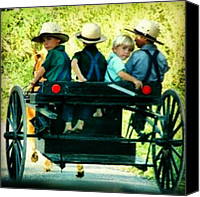 Children Photo Canvas Prints - #amish #kids #boys #children #ohio Canvas Print by Keikei Kelly