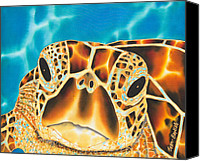 Daniel Jean-baptiste Canvas Prints - Amitie Sea Turtle Canvas Print by Daniel Jean-Baptiste