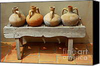 Clay Canvas Prints - Amphoras  Canvas Print by Elena Elisseeva