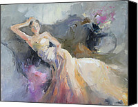 Dance Ballet Roses  Canvas Prints - Ampir Canvas Print by Nelya Shenklyarska
