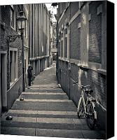 Alley Canvas Prints - Amsterdam Canvas Print by Adam Romanowicz