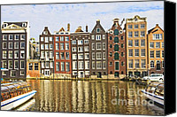 Unique Structure Canvas Prints - Amsterdam canal Canvas Print by Giancarlo Liguori