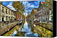 Riverside Canvas Prints - Amsterdam Canvas Print by Svetlana Sewell