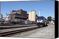 Factories Canvas Prints - Amtrak California At The Old California and Hawaii Sugar Company . C and H . 5D16774 Canvas Print by Wingsdomain Art and Photography