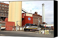Factories Canvas Prints - Amtrak California At The Old California and Hawaii Sugar Company in Crockett California . 7D8856 Canvas Print by Wingsdomain Art and Photography