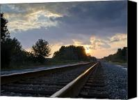 Csx Canvas Prints - Amtrak Railroad System Canvas Print by Carolyn Marshall