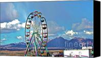 Mountain View Canvas Prints - Amusement View Canvas Print by Gwyn Newcombe