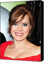 Lip Gloss Canvas Prints - Amy Adams At Arrivals For Leap Year Canvas Print by Everett