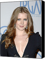 Wavy Hair Canvas Prints - Amy Adams In Attendance For 22nd Annual Canvas Print by Everett
