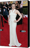 James Atoa Canvas Prints - Amy Adams Wearing A Herve Leroux Gown Canvas Print by Everett