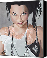 Goth Canvas Prints - Amy Lee - Smirk Canvas Print by Tom Carlton
