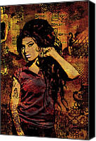 Landscapes Mixed Media Special Promotions - Amy Winehouse 24x36 MM Variant Canvas Print by Dancin Artworks