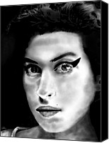 Celebrity Special Promotions - Amy Winehouse Canvas Print by Penny Ovenden