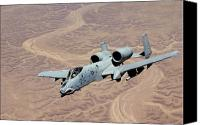 Operation Iraqi Freedom Canvas Prints - An A-10 Thunderbolt Soars Canvas Print by Stocktrek Images