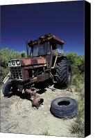 Kangaroo Canvas Prints - An Abandoned Tractor Rusts Away Canvas Print by Jason Edwards