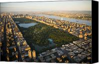City Streets Photo Canvas Prints - An Aerial View Of Central Park Canvas Print by Michael S. Yamashita