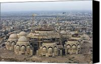 Great Mosque Canvas Prints - An Aerial View Of Saddam Hussiens Great Canvas Print by Terry Moore