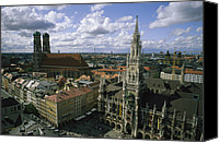 Frauenkirche Canvas Prints - An aerial view of the Canvas Print by National Geographic