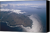 Fuego Canvas Prints - An Aerial View Of Tierra Del Fuego Canvas Print by Gordon Wiltsie